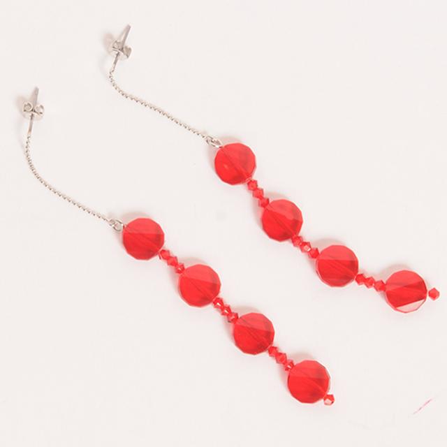 df19AW-J01 CIRCLE MOTIF PIERCE (red)