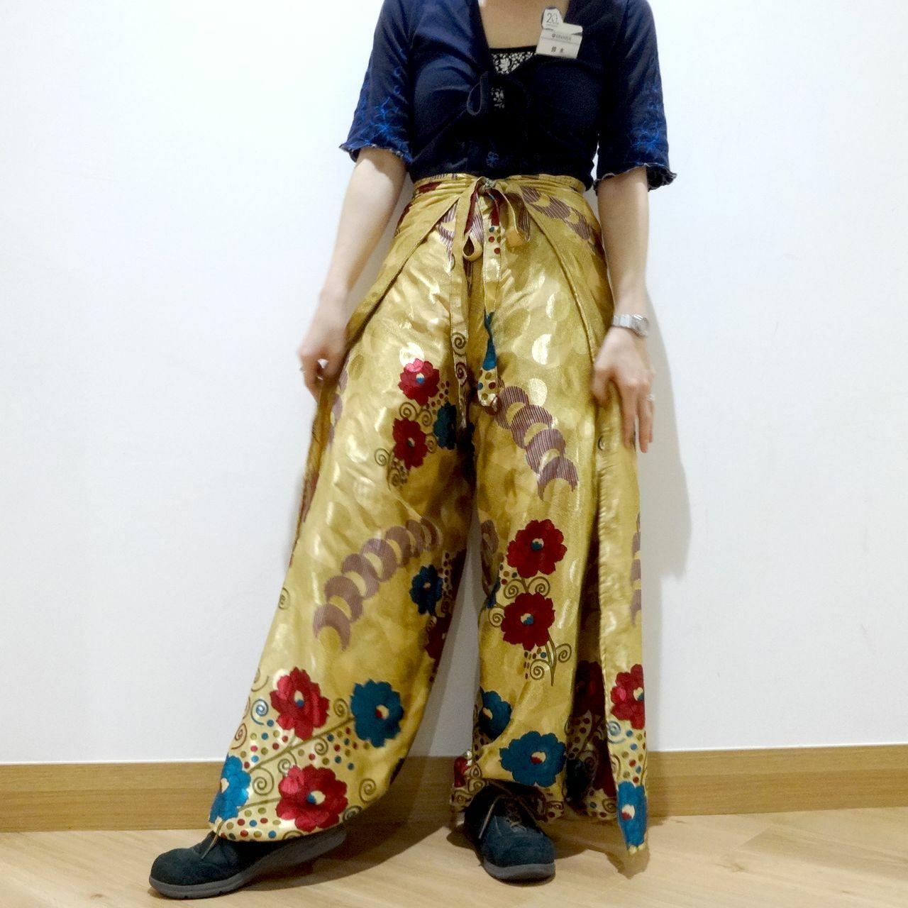 vdsn-035 ビンテージシルクサリーネパリパンツ「ローズ&ローズ」【訳あり】