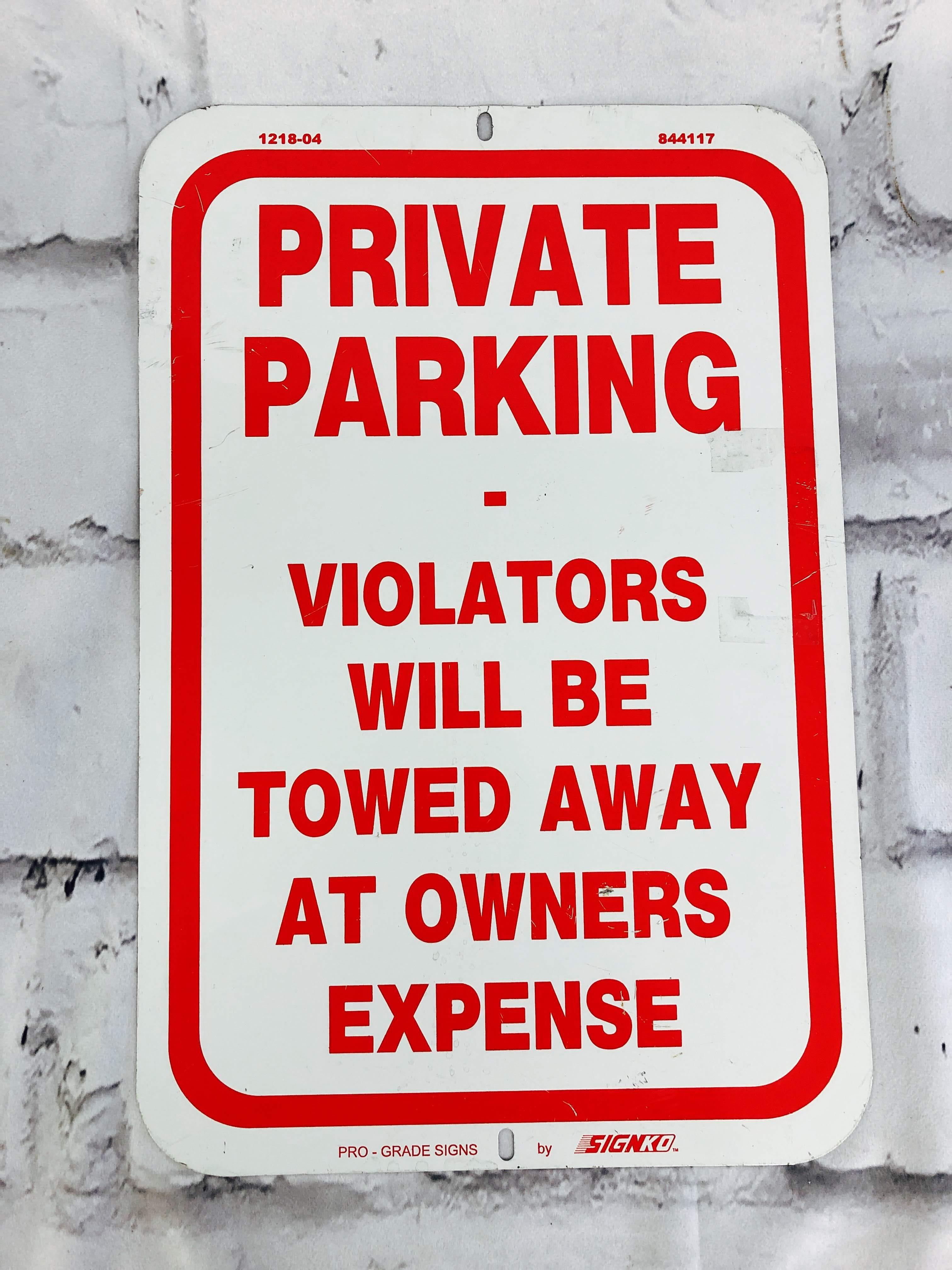 品番6275 道路標識 看板 『PRIVATE PARKING』 ロードサイン サインプレート アメリカンヴィンテージ