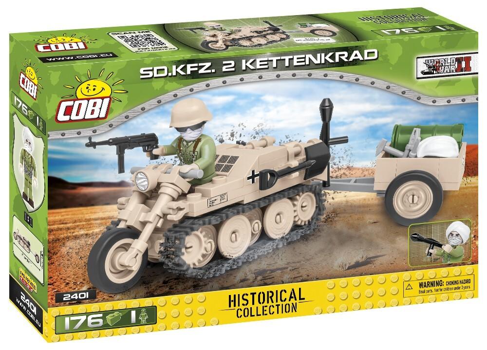 COBI #2401 Sd Kfz 2 ケッテンクラート (Kettenkrad)