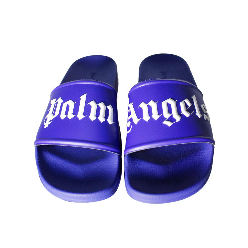 PALM ANGELS Pool Slider VioletI/White