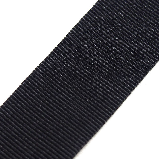 YKK グログランテープ 25mm幅  黒/白 10m