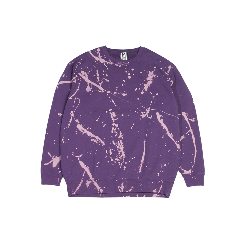 bleached pullover / PURPLE - 画像1