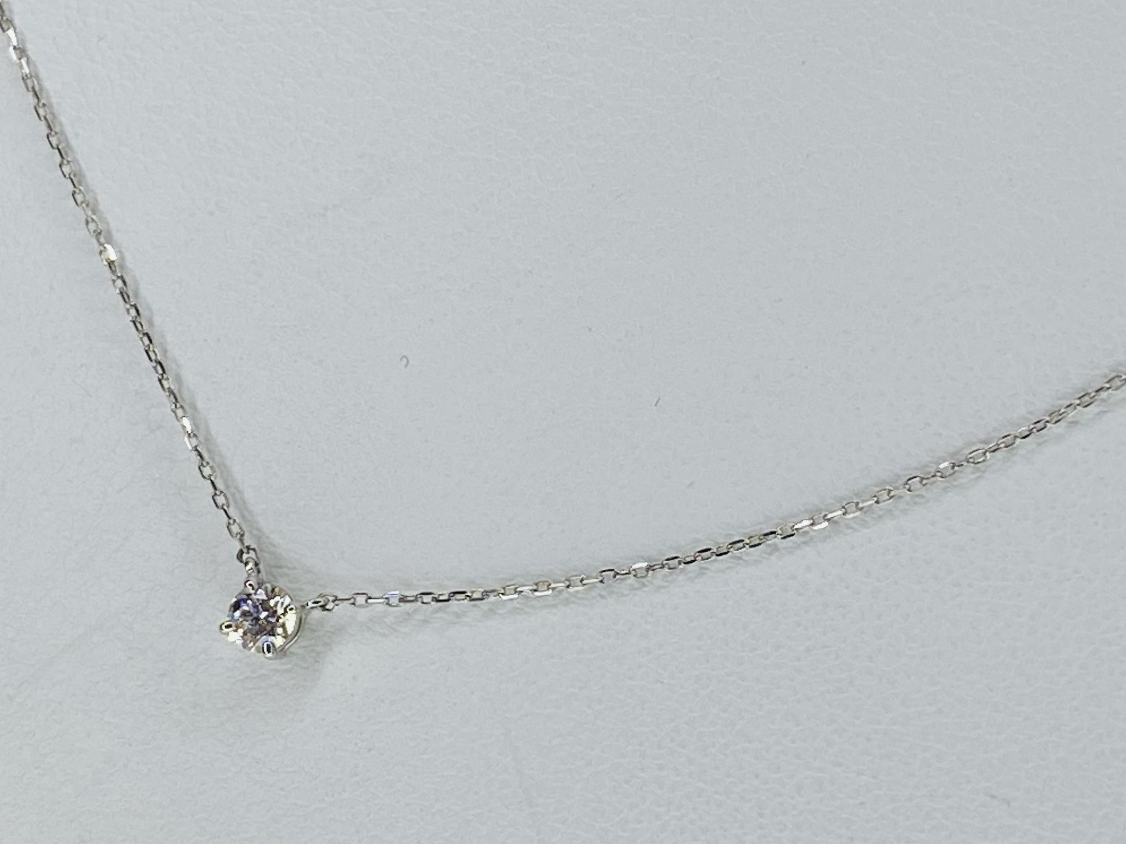 PT900/850 0.102ctダイヤモンドネックレス ○