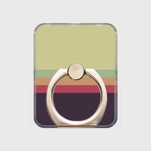 レトロストライプ(薄緑・薄水・橙・赤・紺)/スマホリング