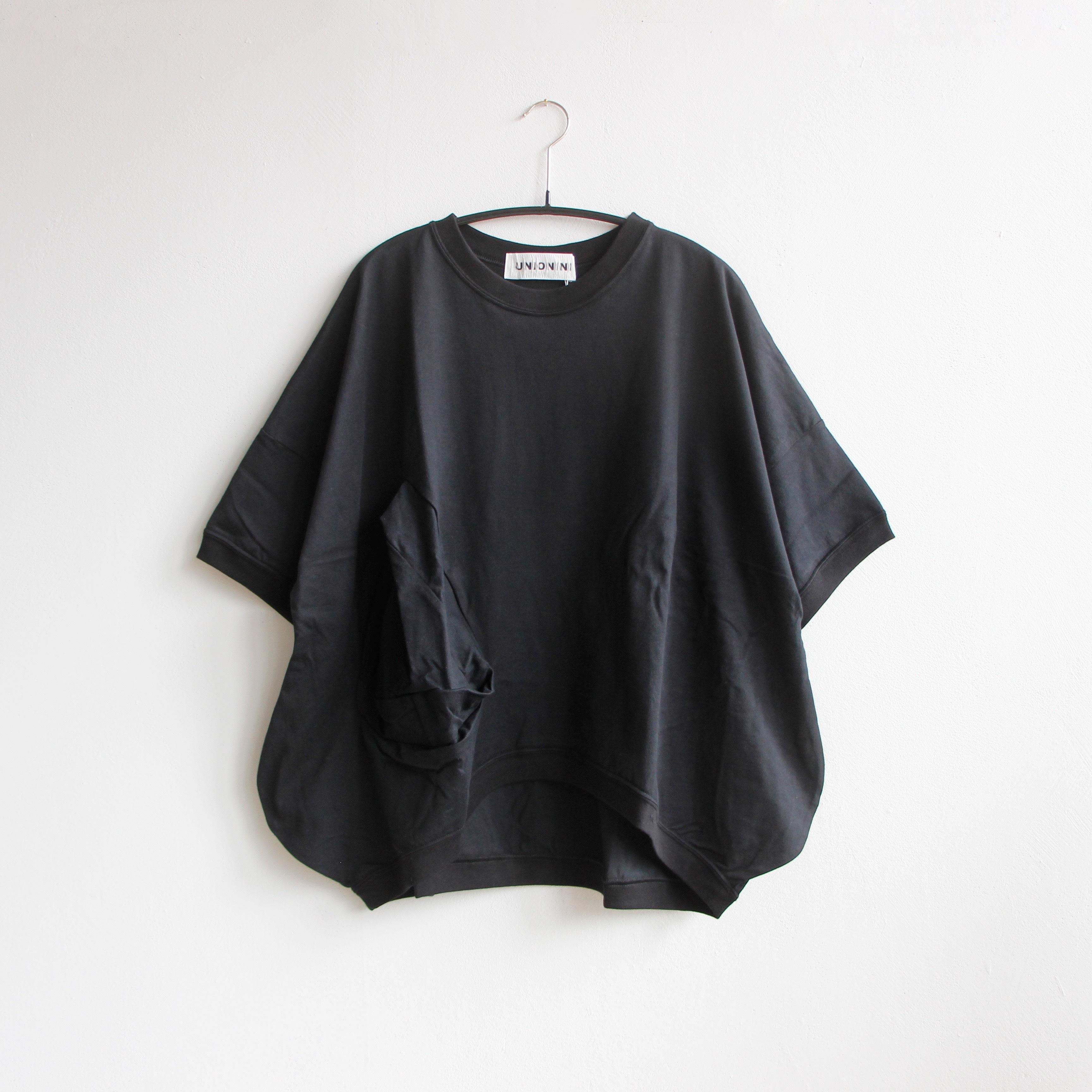《UNIONINI 2020SS》◯△ T-shirt / black / 12-14Y・M(大人)