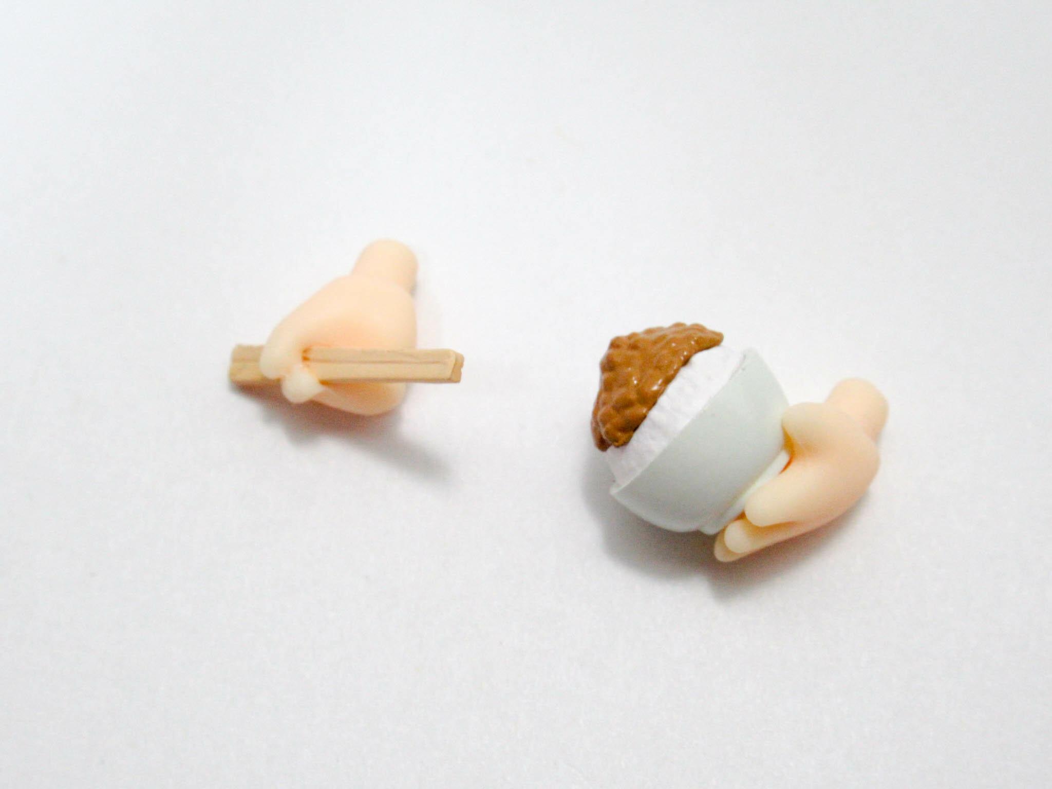 再入荷【1082】 奥村英二 小物パーツ お箸と納豆ご飯 ねんどろいど