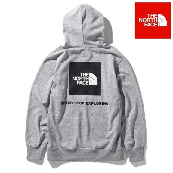 ノースフェイス パーカー フーディー スウェット プルオーバー パーカー バックスクエアロゴフーディ The North Face Back Square Logo Hoodie NNT12034 ミックスグレー 正規取扱店