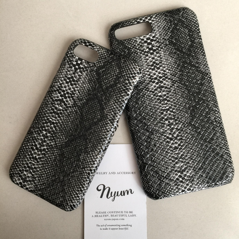 【iphone7plus/8plusカバー】パイソン柄iphoneケース へび柄 ヘビ柄