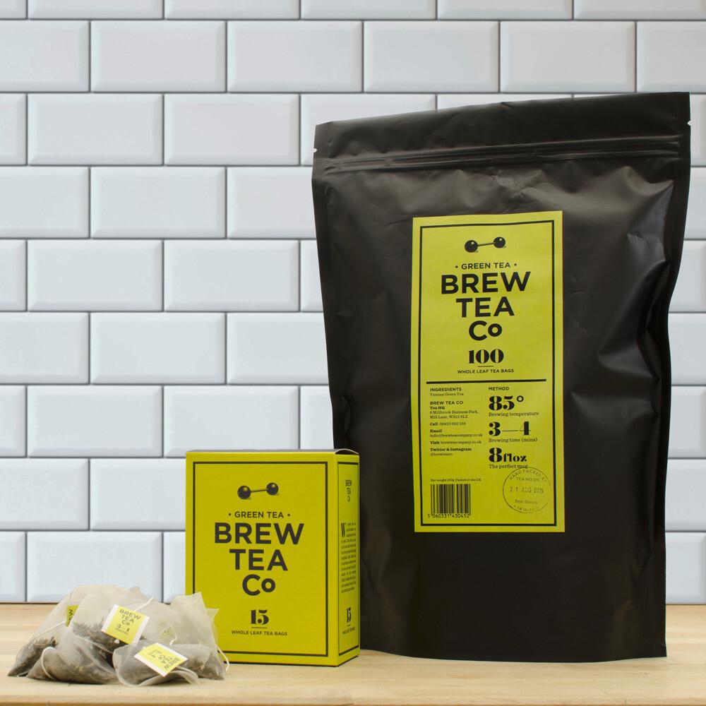BREW TEA Co. ブリューティーカンパニー tea bag ティーバッグ 100個入り Green Tea グリーンティー