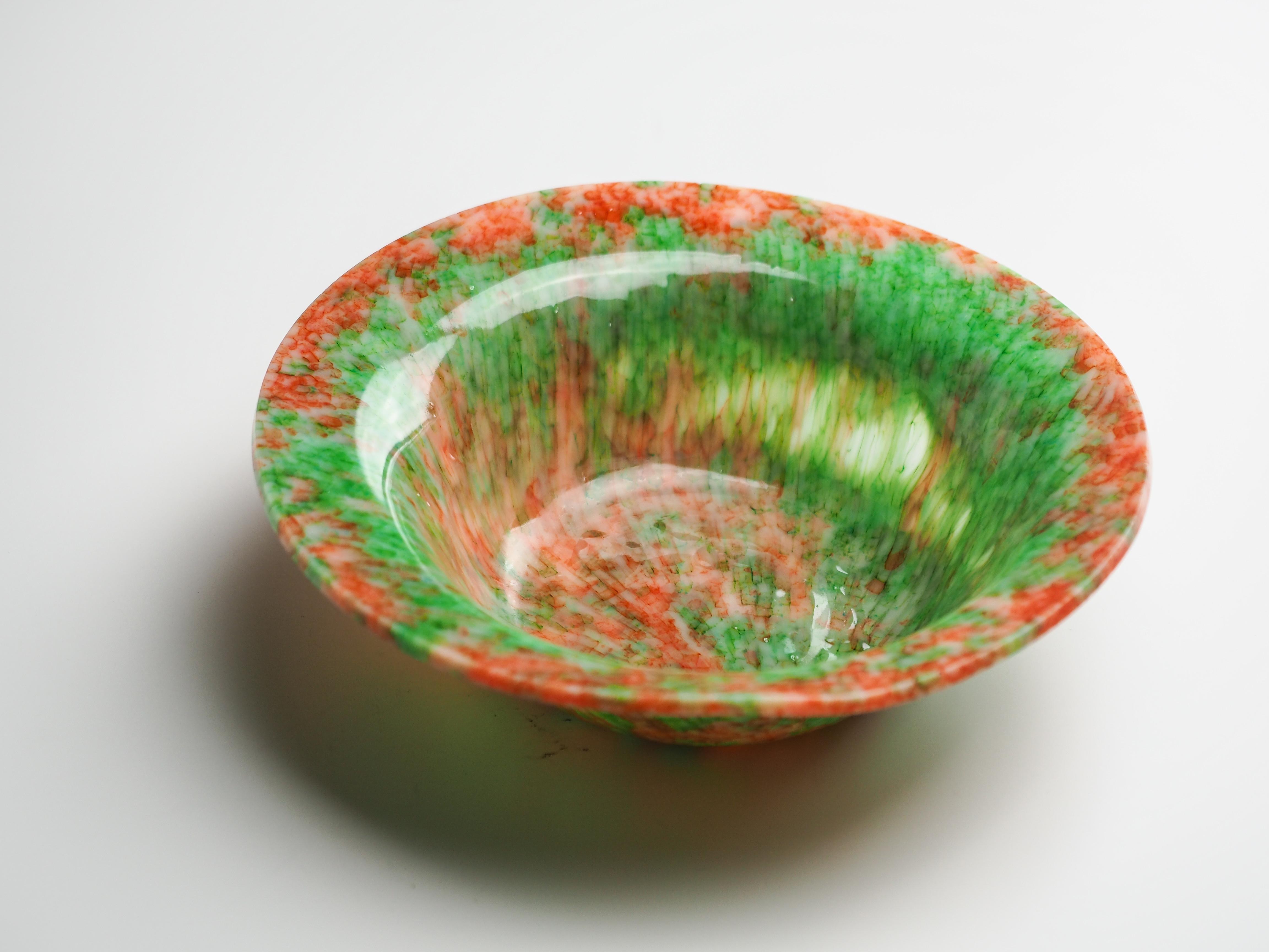 ボウル-N(赤×緑)fb-n-8