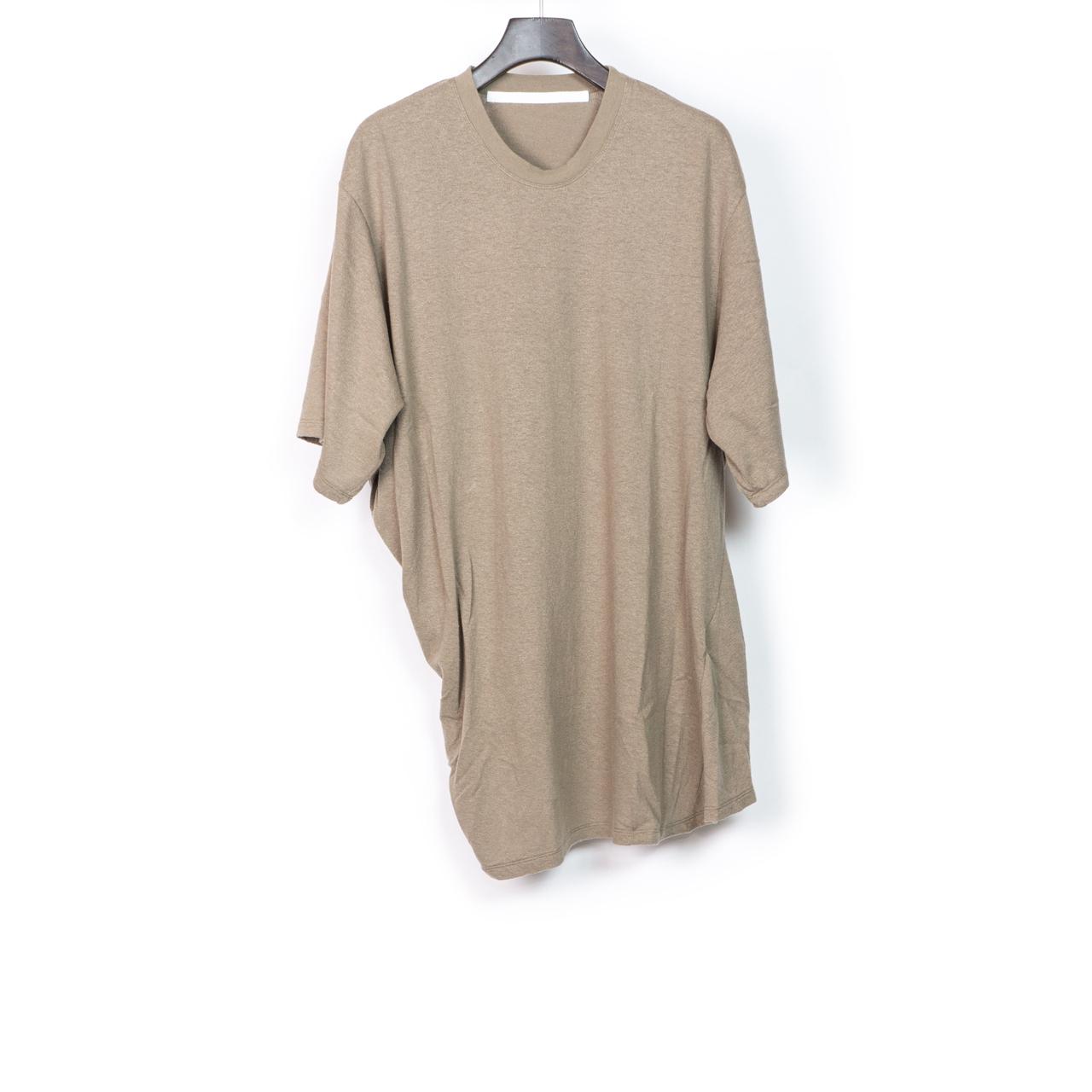 697CUM10-SAND / サイドドレープ Tシャツ