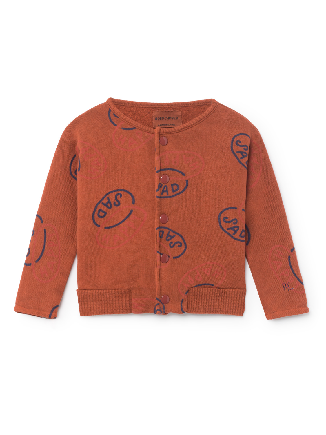 《BOBO CHOSES 2018AW》Happy Sad Buttons Sweatshirt / 12-36M