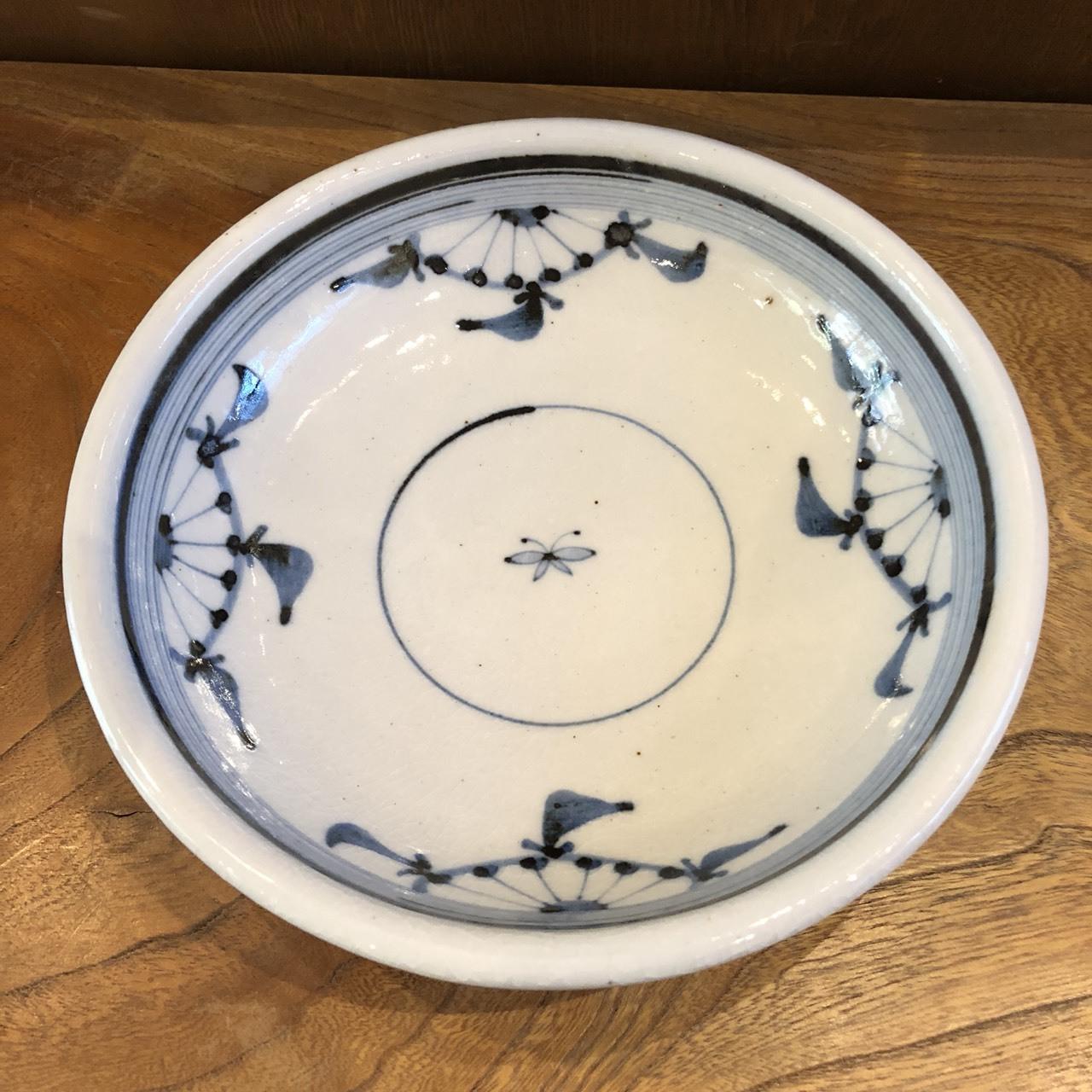 砥部焼 陶彩窯 染付小砥部文の丸皿