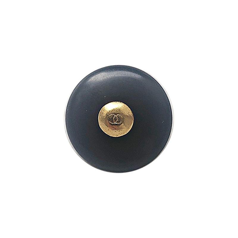 【VINTAGE CHANEL BUTTON】アンティークゴールド ブラック ココマークボタン(小)