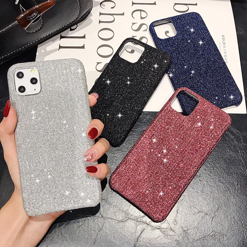 【お取り寄せ商品、送料無料】4カラー キラキラ グリッター ハード iPhoneケース iPhone11