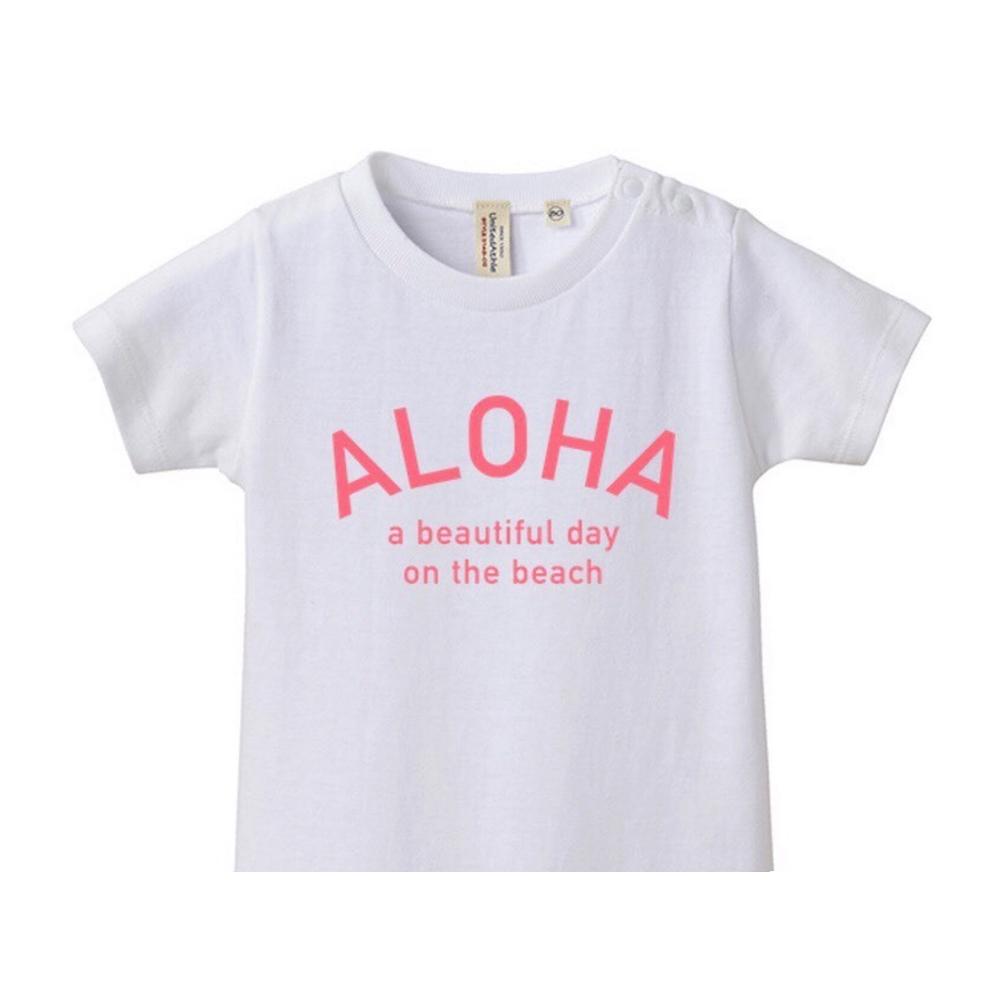 【4月初旬発送】★Kids★ ALOHA Tee - White/Pink