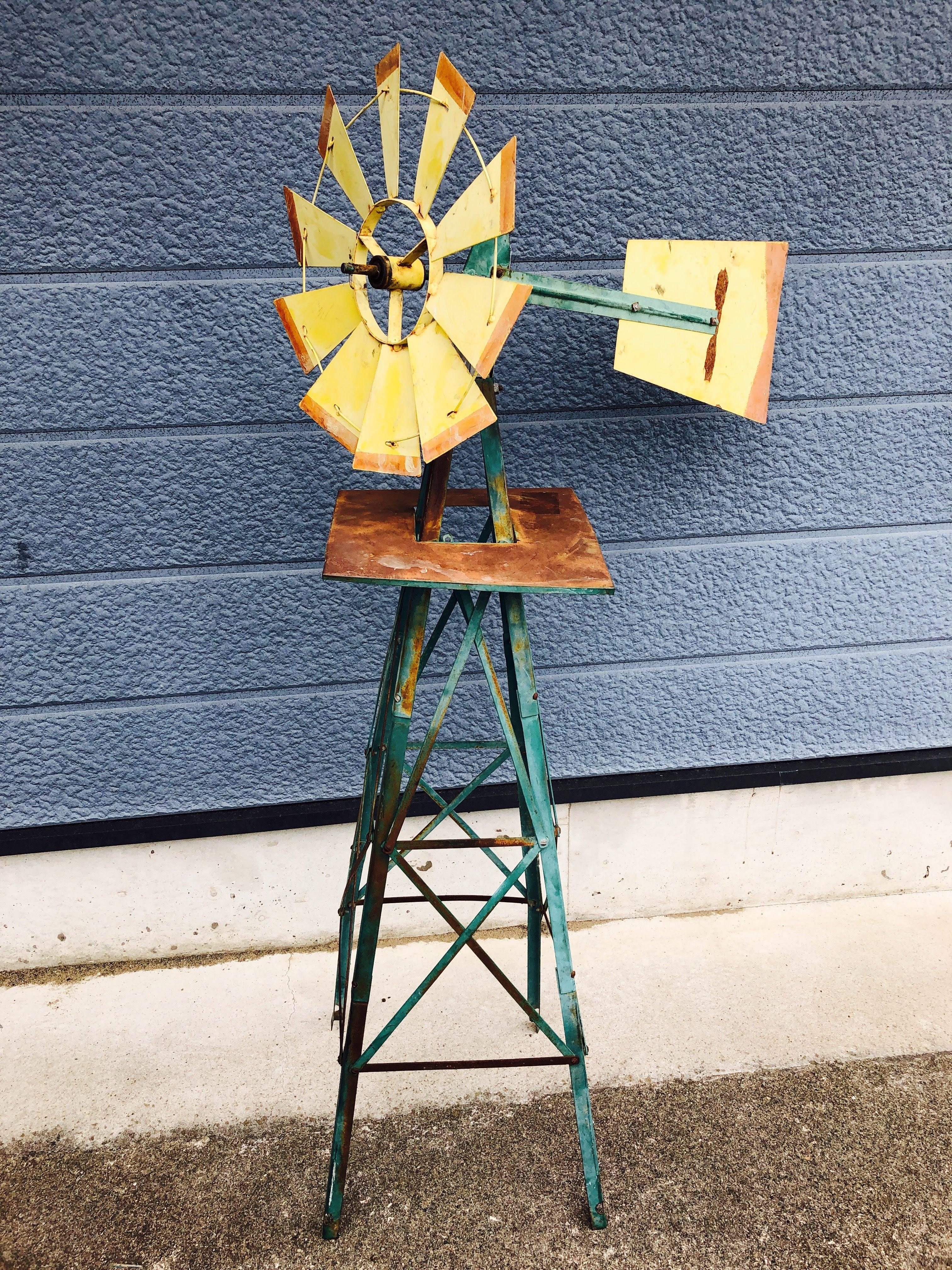 品番2253 風車 イエロー Windmill スタンド インテリア ヴィンテージ