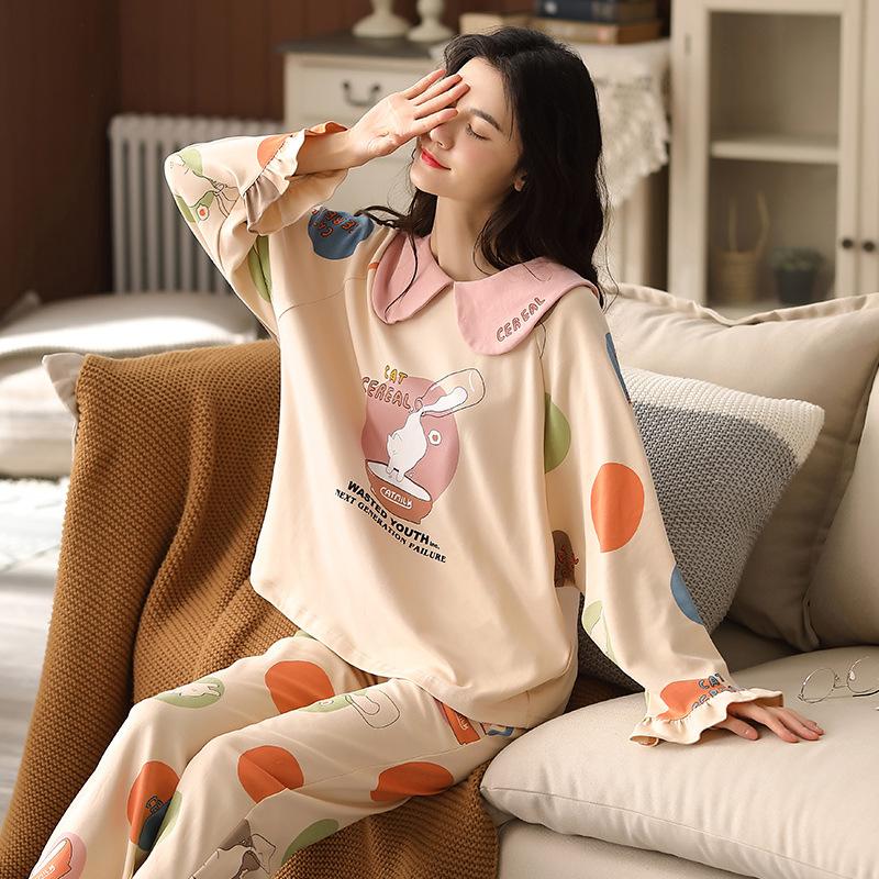 【パジャマ】存在感アップ 絶対可愛い プリント 切り替えパジャマ34069502