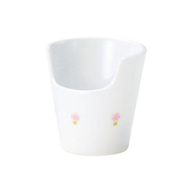 【1965-1060】強化磁器 あんしんコップ 花の冠(ピンク)