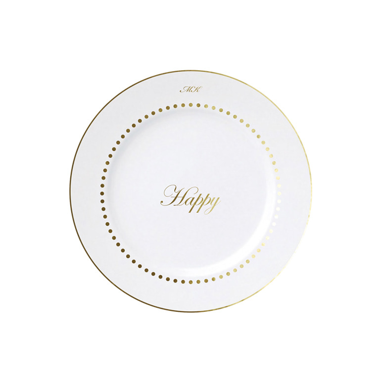 Classic Happy & Dots Plate