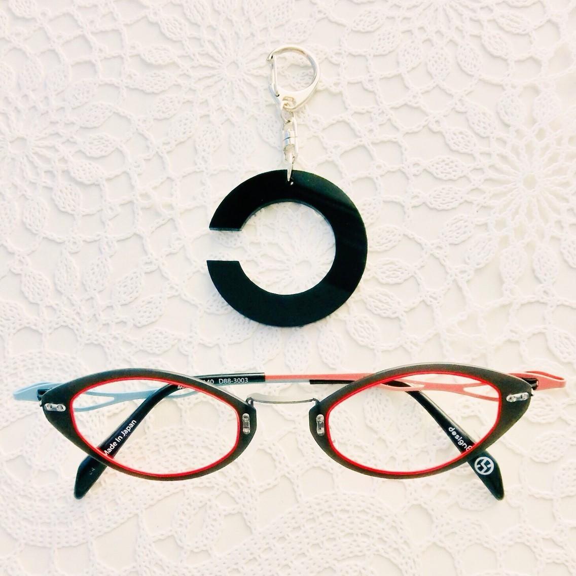 「視力検査のアレ」ランドルト環キーホルダー