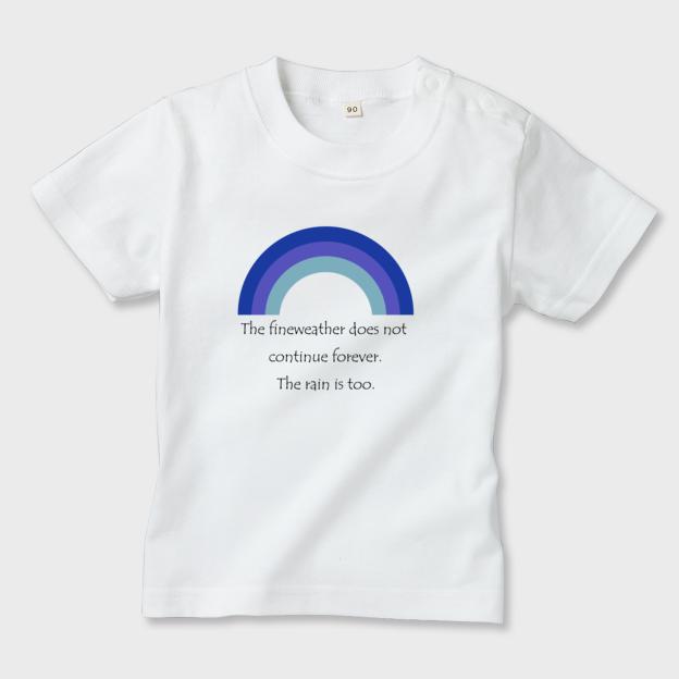rainbow b キッズTシャツ 白