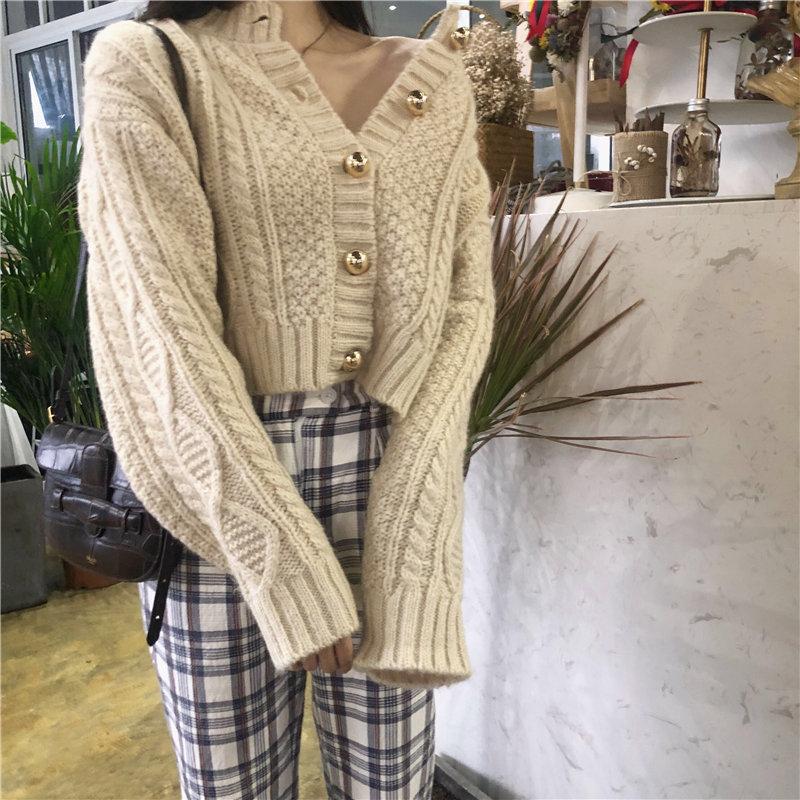 ツイストシックショートセーター