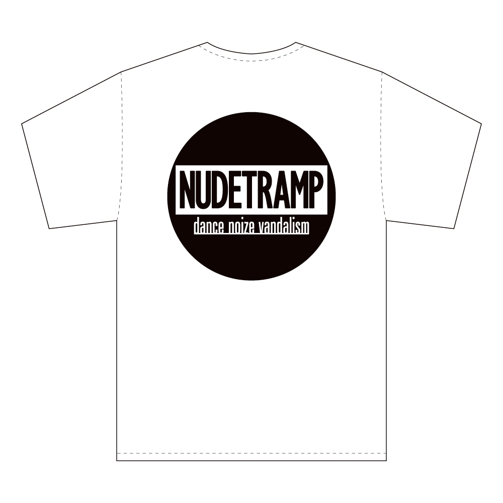 "NUDE TRAMP ""DANCE NOIZE VANDALISM"" S/S Tee [WHITE]"