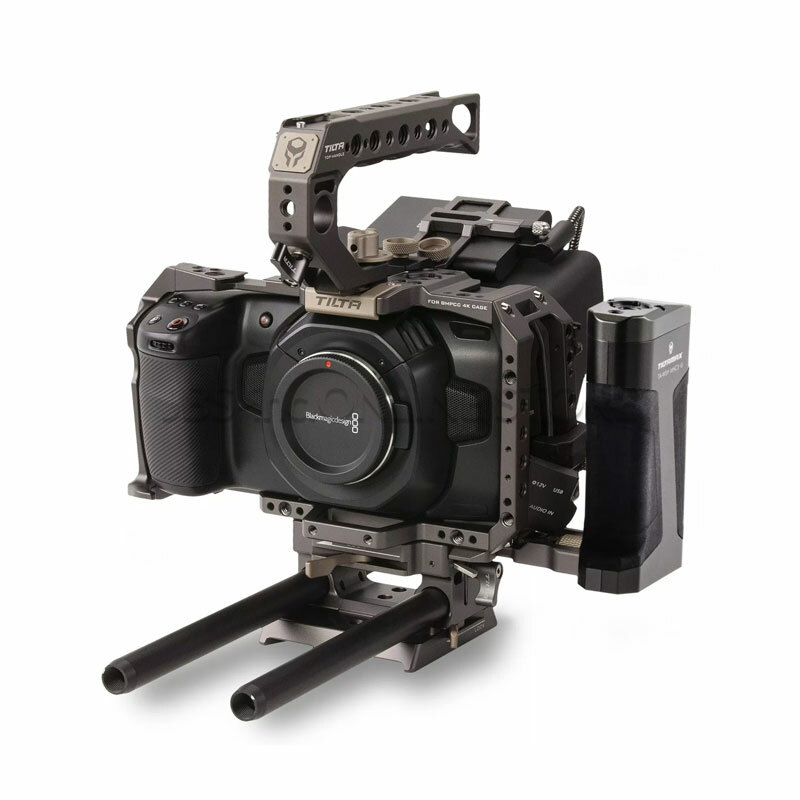 TILTA Camera Cage for BMPCC 4K – Tactical Kit (Tilta Gray)