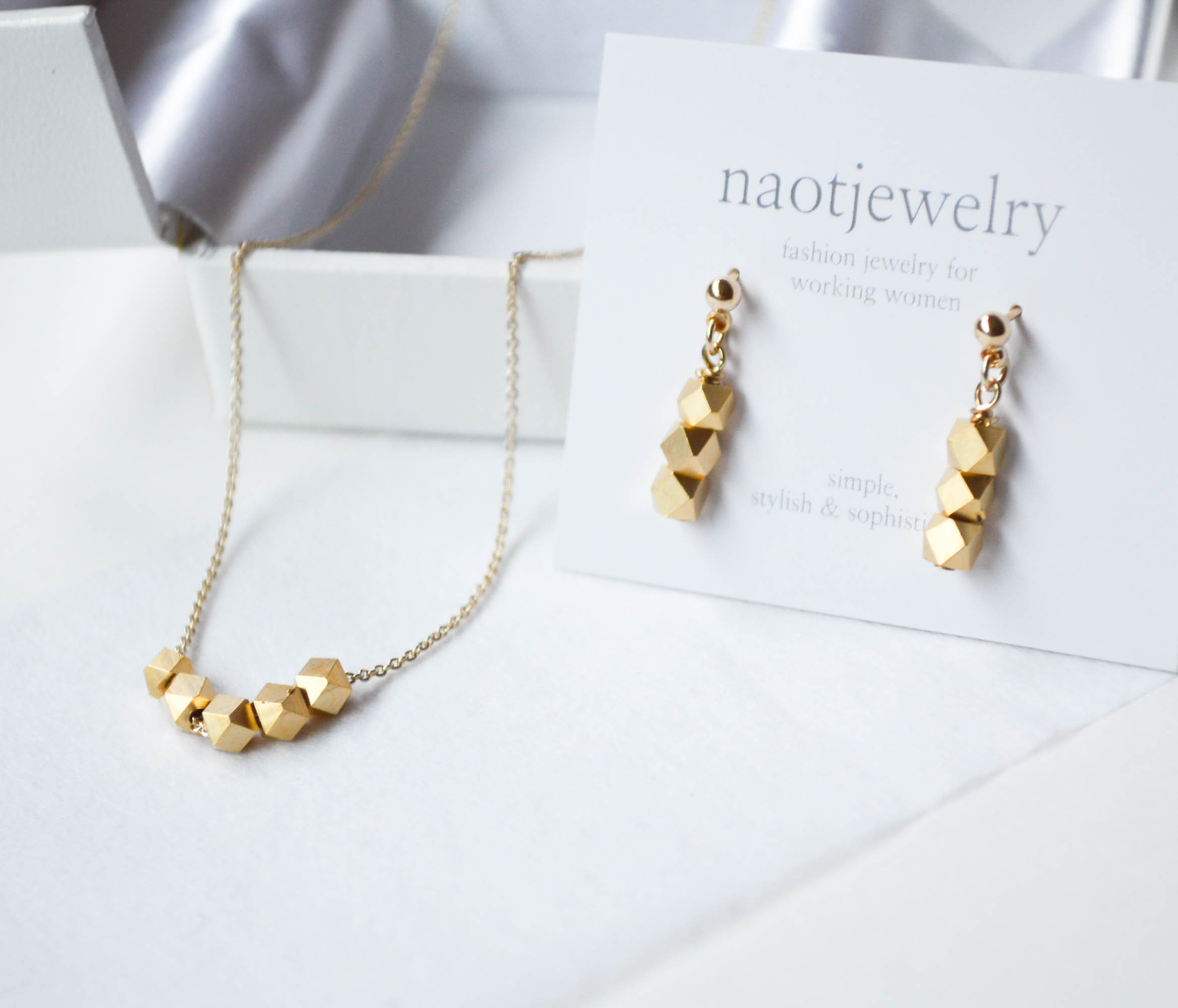 Metal Cut Silver Beads Set(matte gold)