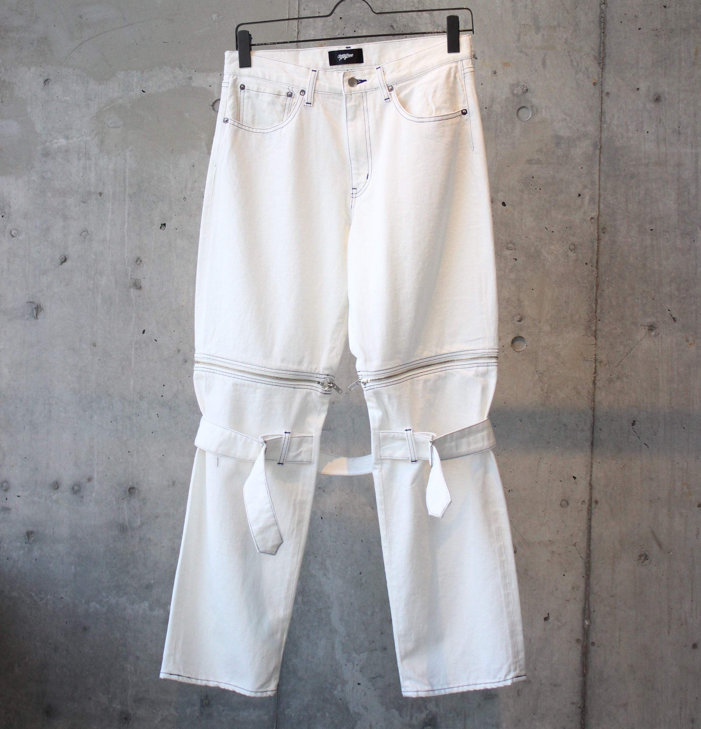 DENIM BONTAGE PANTS / WHITE - 画像1