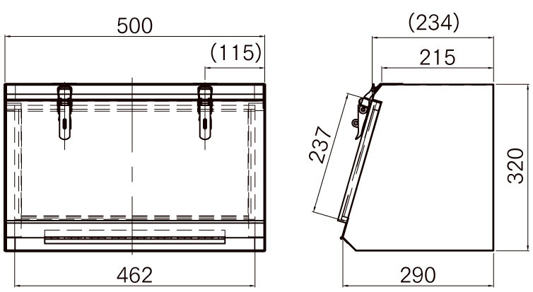 ステンレス工具箱【HKK-500B 中間鋼種】