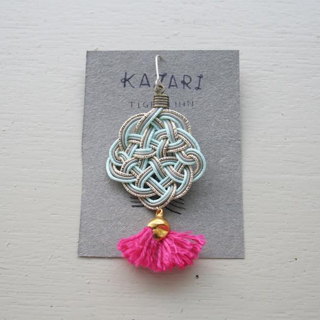 India 片耳ピアス /172/KAZAZRI × TIGER LINN / terra familia / WWBb