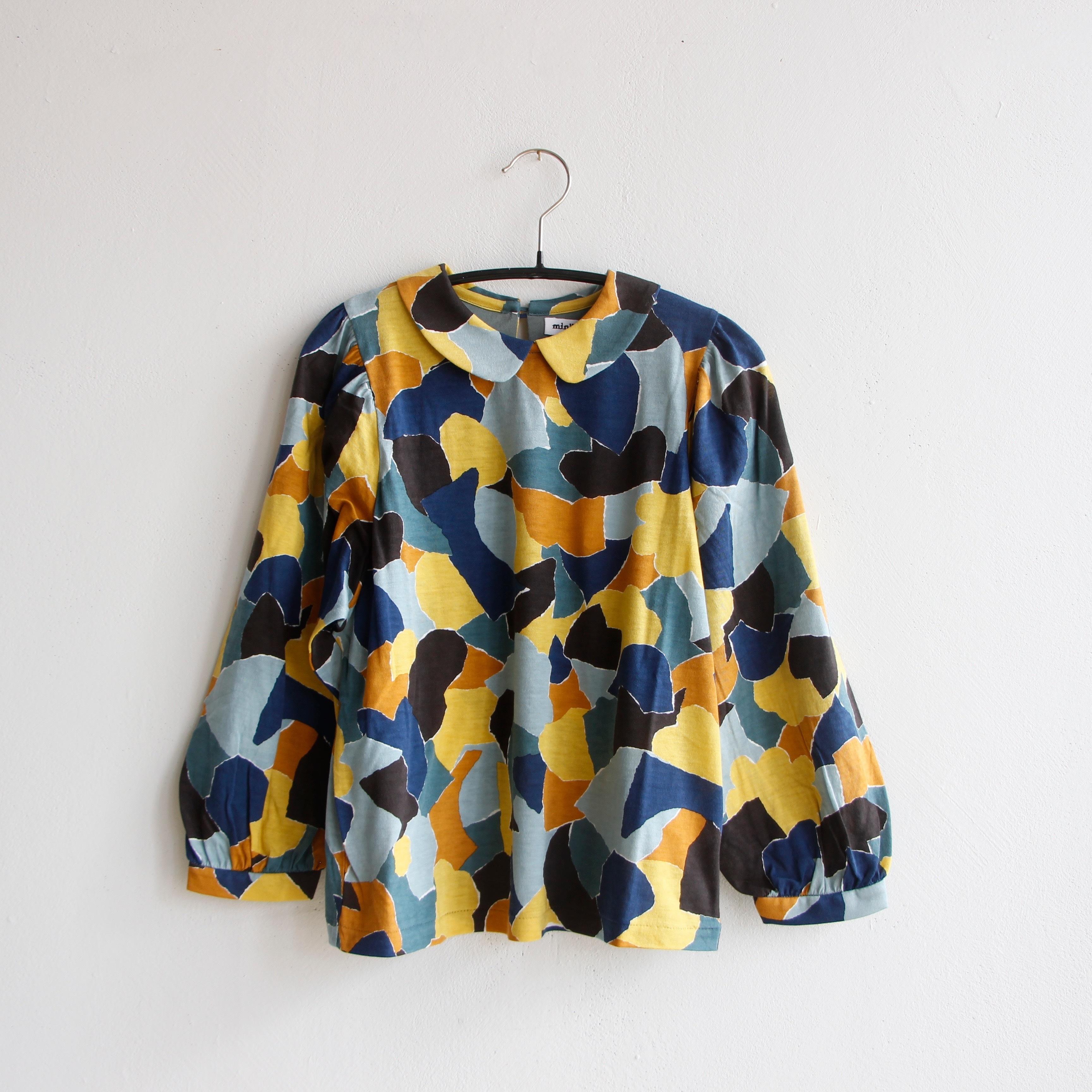 《mina perhonen 2020AW》foliage 長袖カットソー / yellow mix / 110-140cm