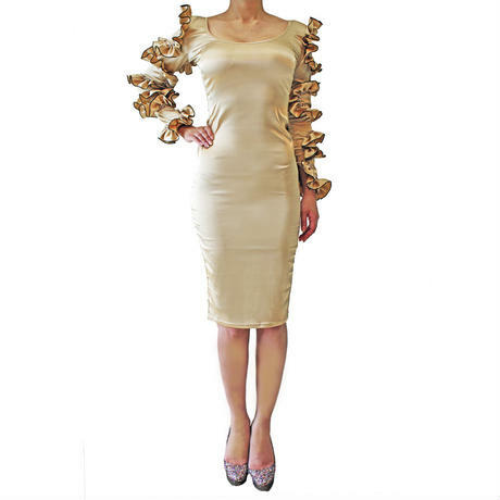 CARMEN LONG DRESS GOLD
