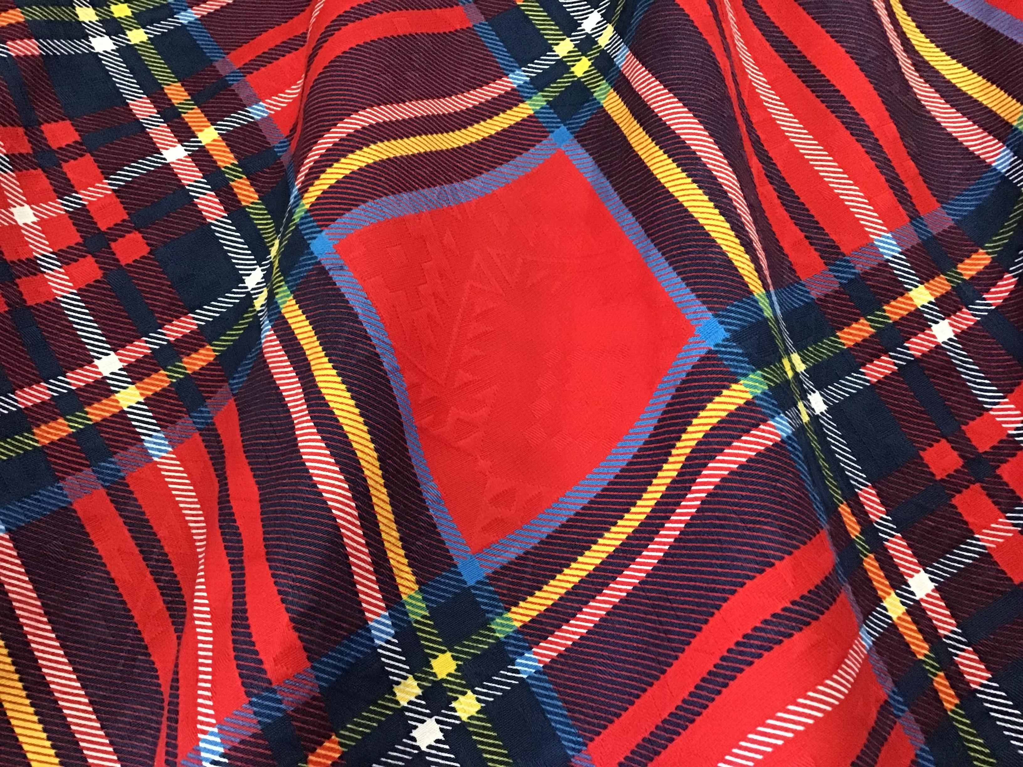 限定作品 コットンジャガード織り トライバル模様