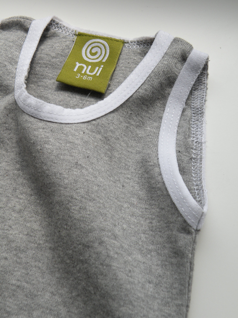 オーガニックコットン BasicRib グレータンクトップ ベビー服  【nui】