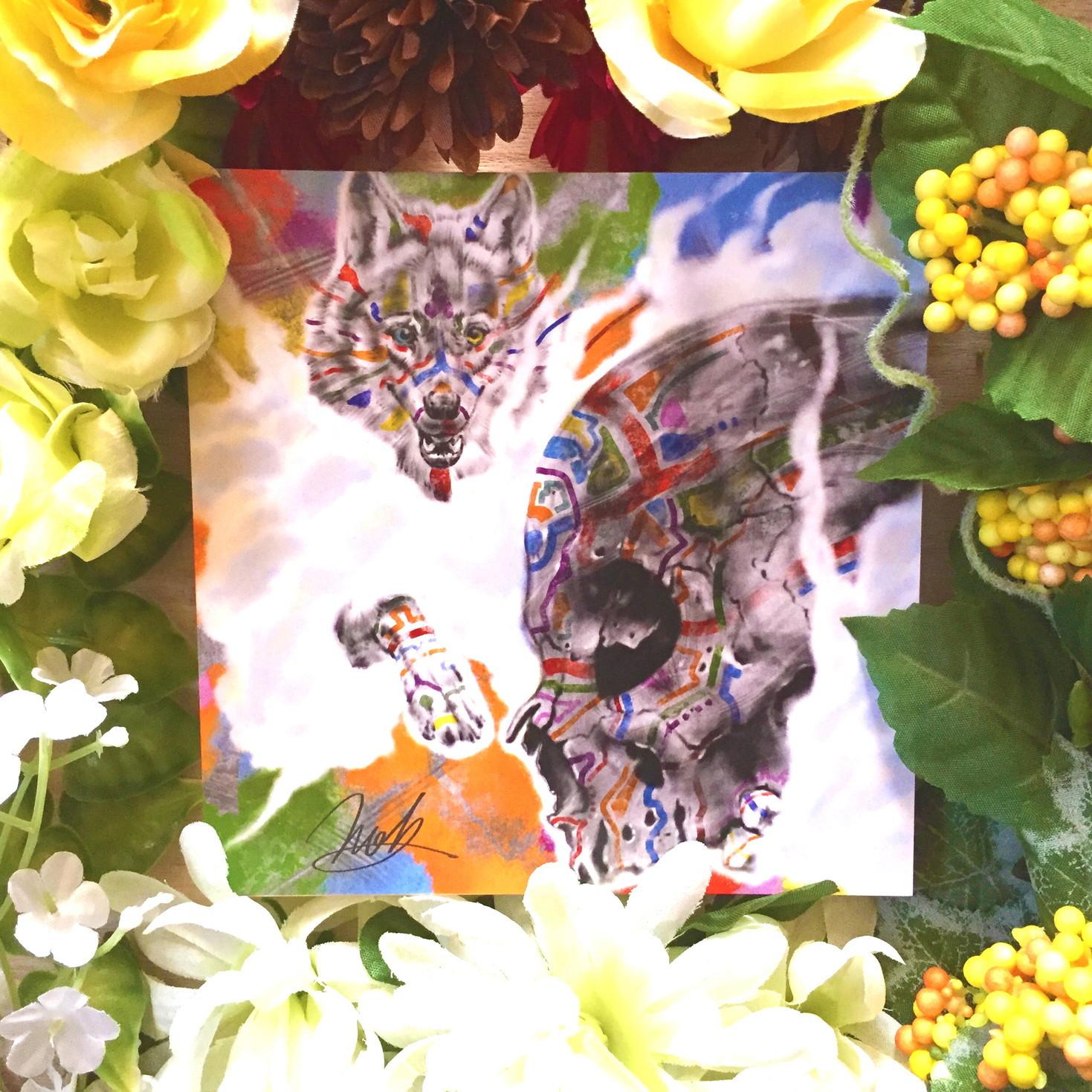 絵画 インテリア アートパネル 雑貨 壁掛け 置物 おしゃれ 髑髏 ドクロ 現代アート ロココロ 画家 : nob 作品 :  L&D03