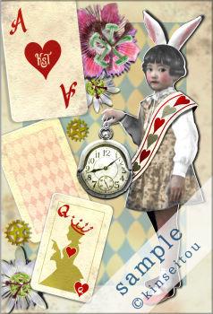 ポストカード - 不思議の国のシロウサギ(1) - 金星灯百貨店