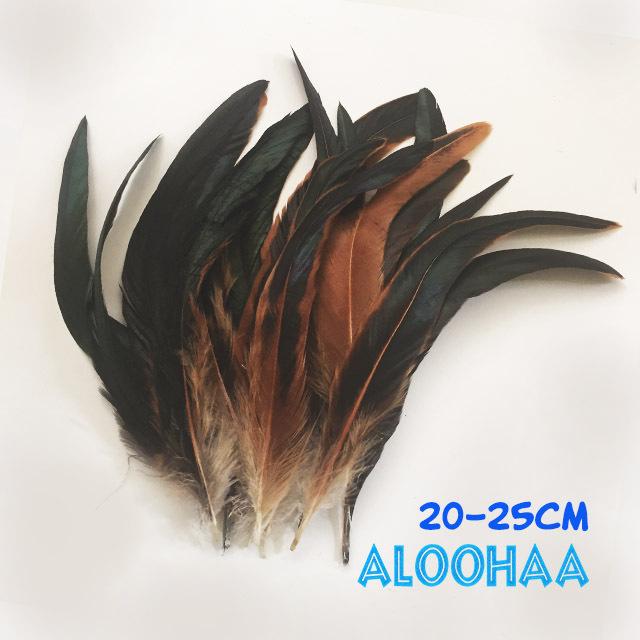 ロングフェザー 【ナチュラル】20-25cm タヒチアン 衣装 材料 ルースターテール 染め 羽根