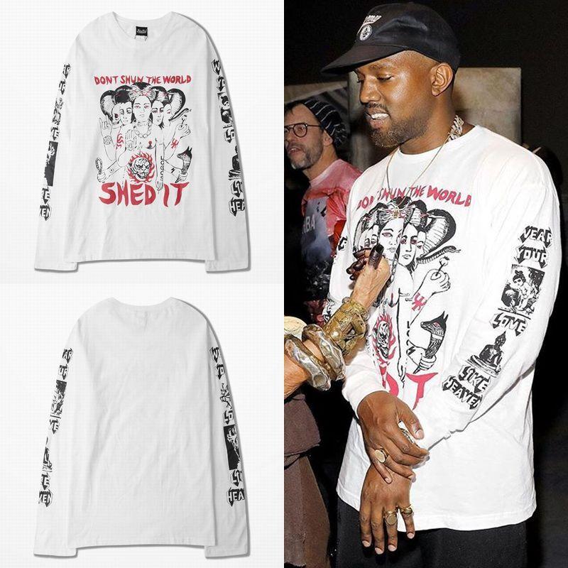 ユニセックス 長袖 Tシャツ メンズ レディース プリント ラウンドネック オーバーサイズ 大きいサイズ ストリート