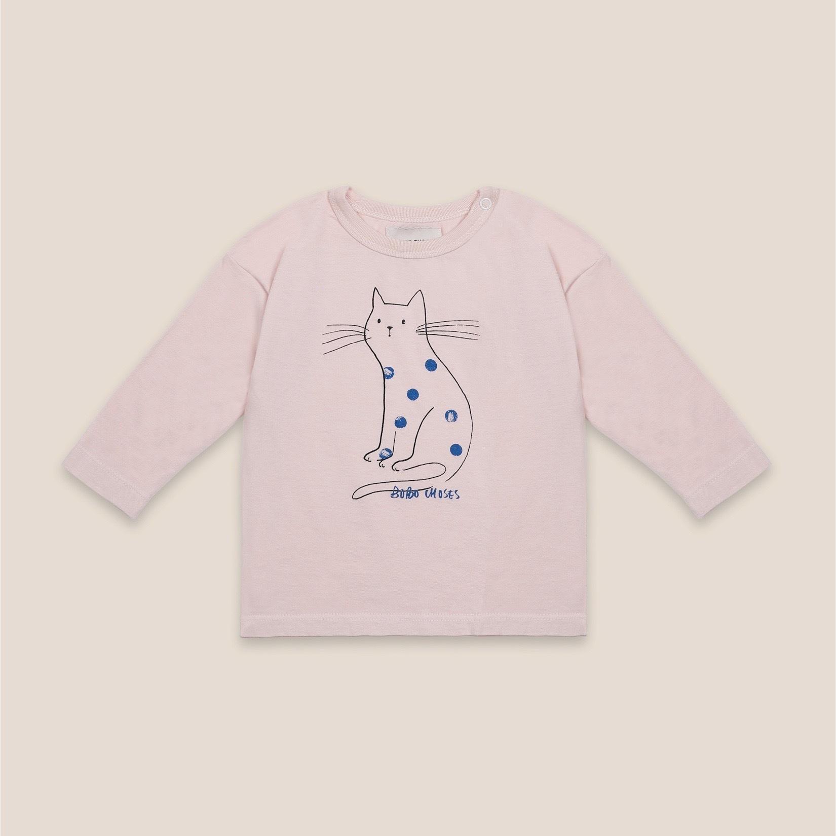 《BOBO CHOSES 2020AW》Cat long sleeve T-shirt / 6-36M