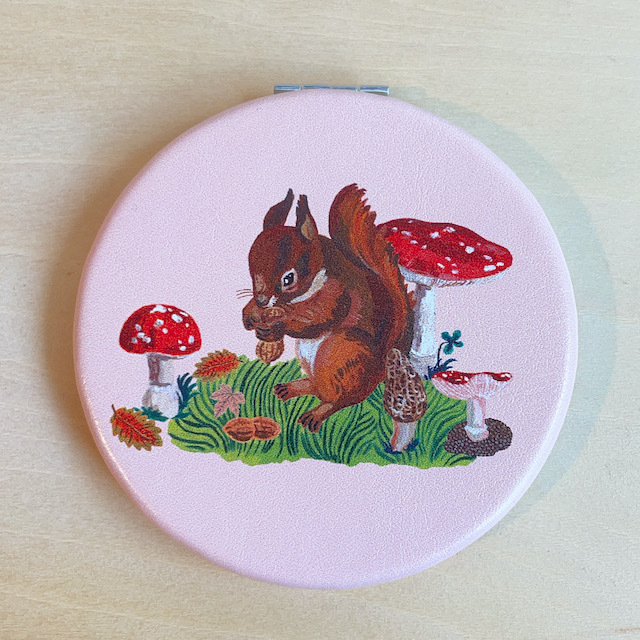 Nathalie Lete Compact Mirror Squirrel ナタリーレテ コンパクトミラー