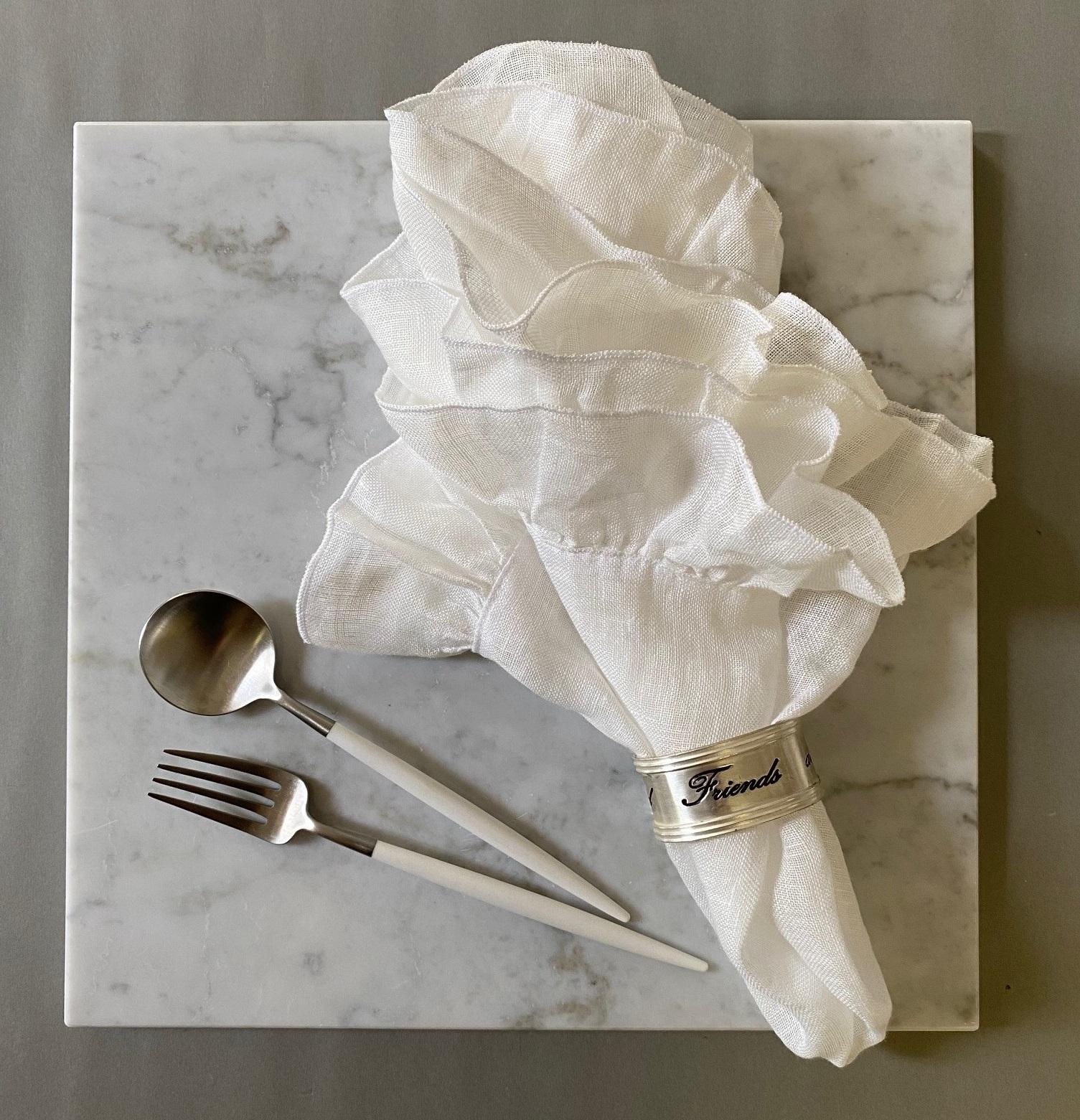 ボルゴ デル トヴァーリ リネンナプキン - Ivory White( BORGO DELLE TOVAGLIE Napkin )