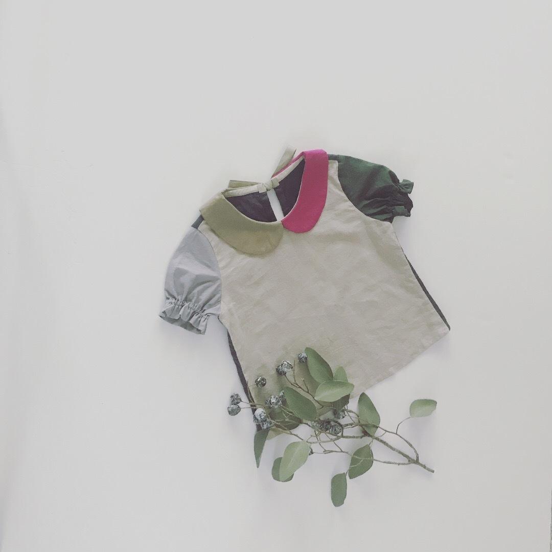 01丸襟パレットブラウス