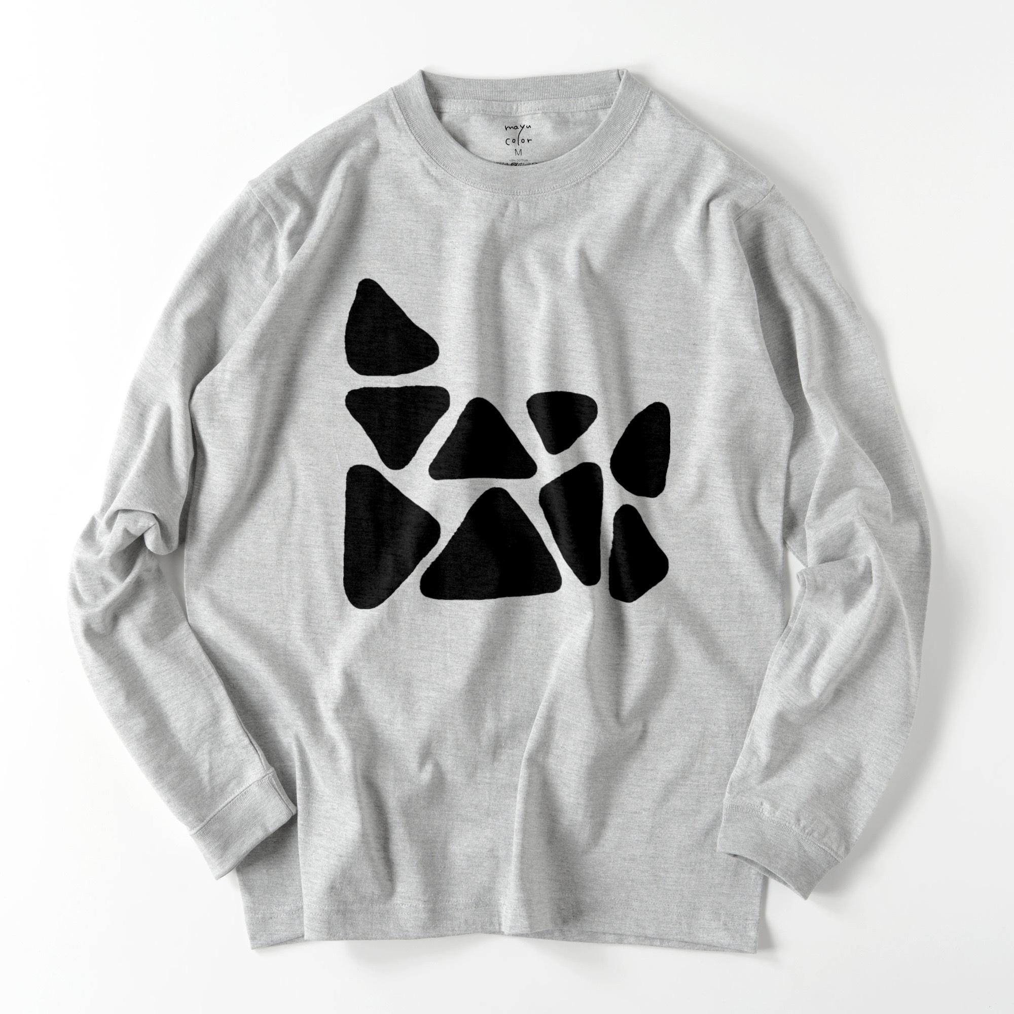 onigiri/GRY/モノトーン【シンプルデザインTシャツ】©mayu_color.888