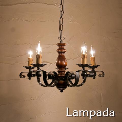 IT7411 イタリア製5灯用シャンデリア