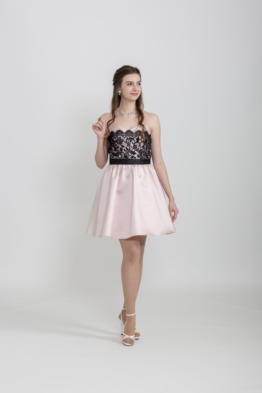 【レンタル】ピンクサテンミニドレス