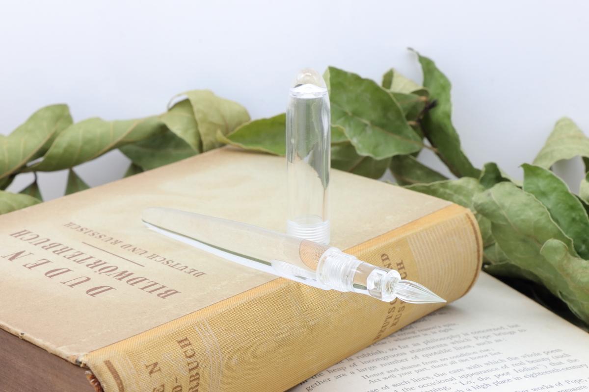 受注生産 キャップ付きガラスペン「No00 スケルトン:デモンストレーター」Viriditas手作りペン